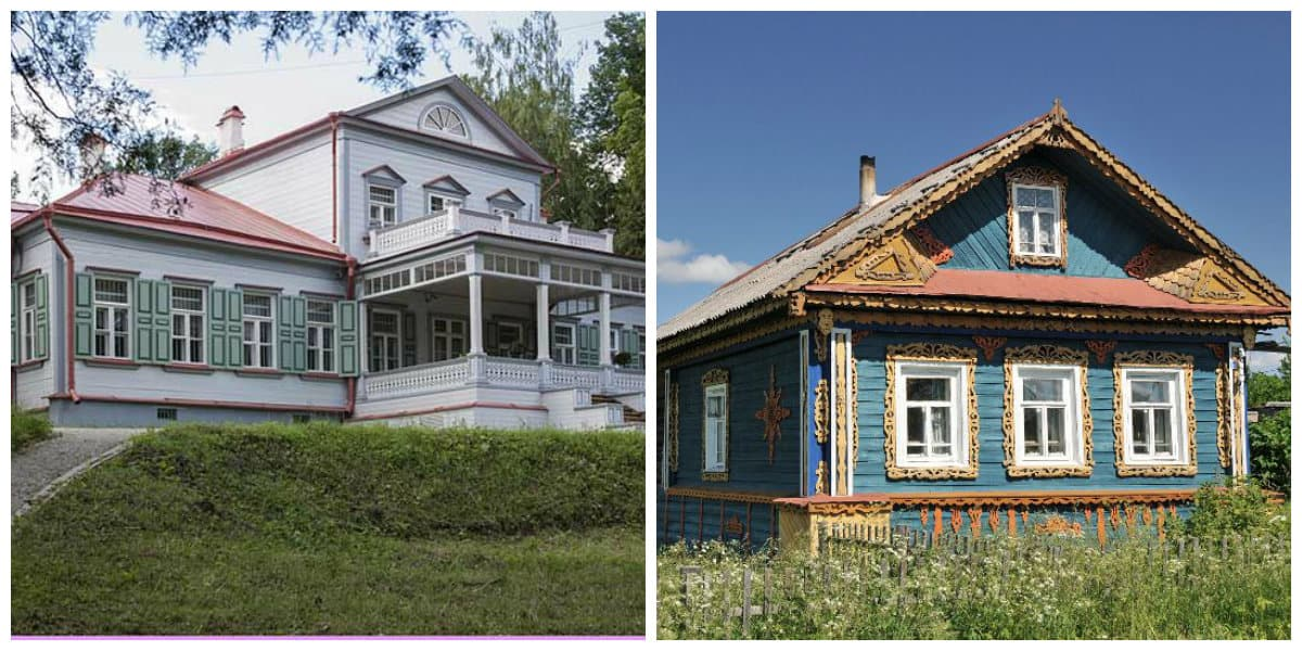 country style house, Russian style house design