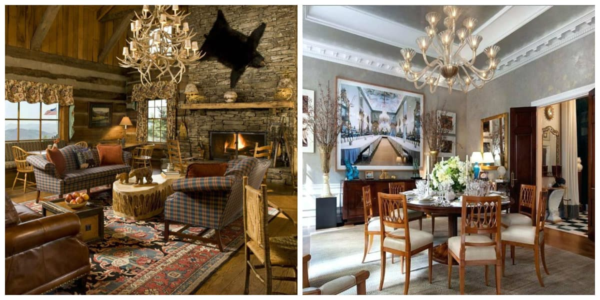 country style interior design, American country style interior design