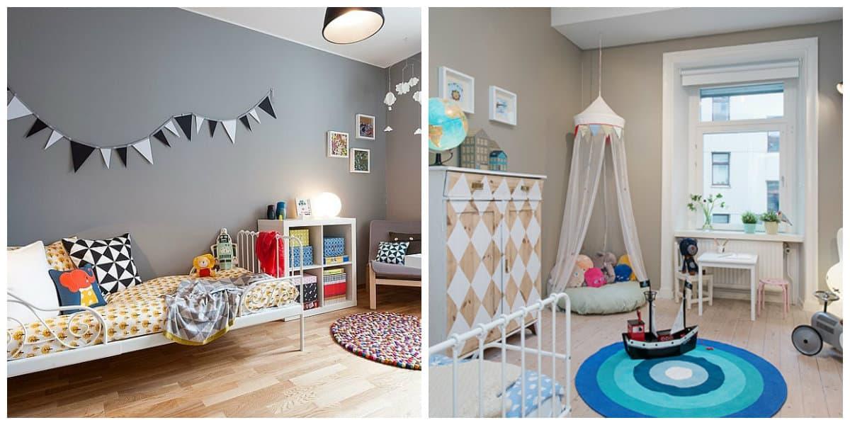 country style kids room, Scandinavian style kids room