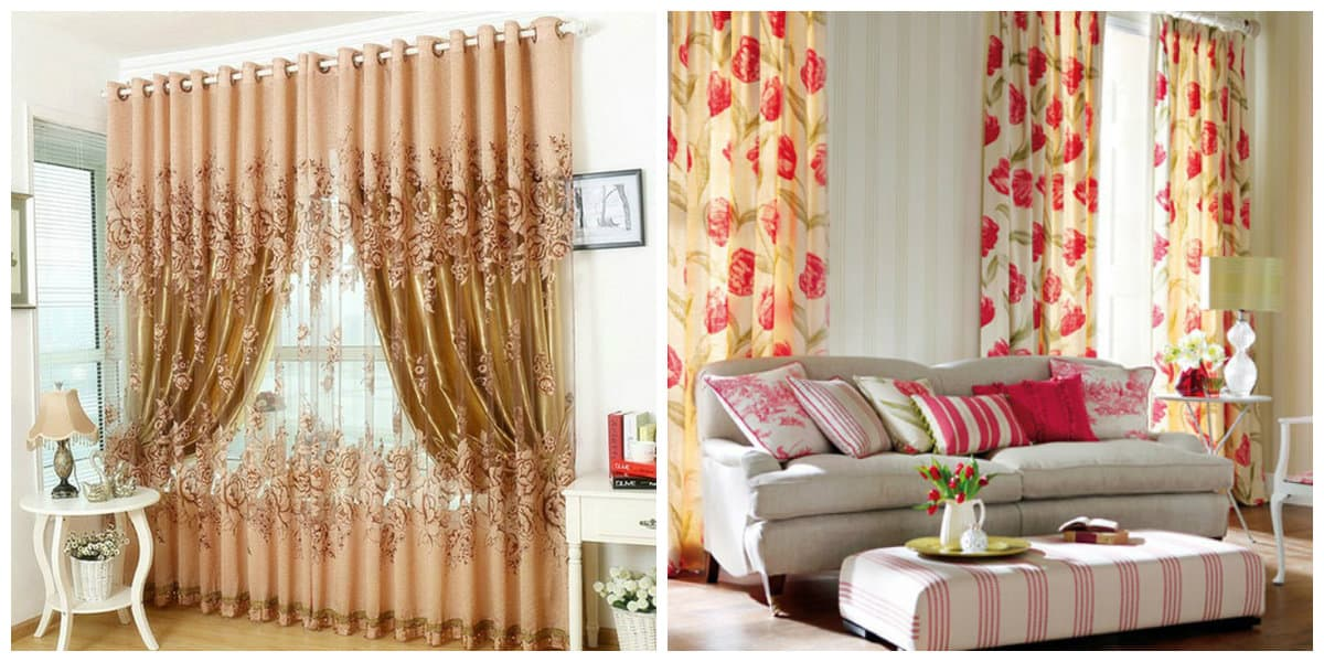 curtains in rustic style, English style curtains in rustic style