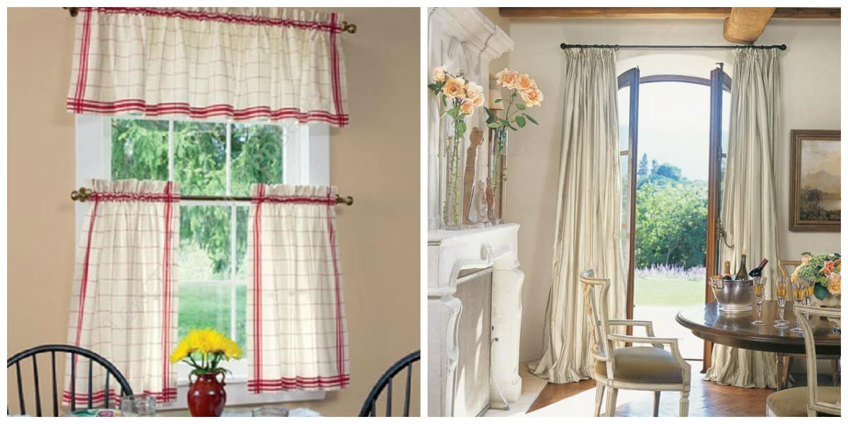 curtains in rustic style, Provence style rustic curtains