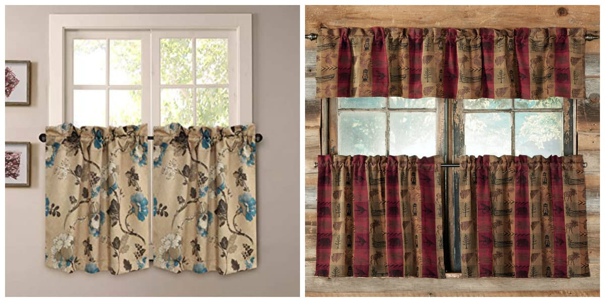 curtains in rustic style, curtain cafe in rustic style
