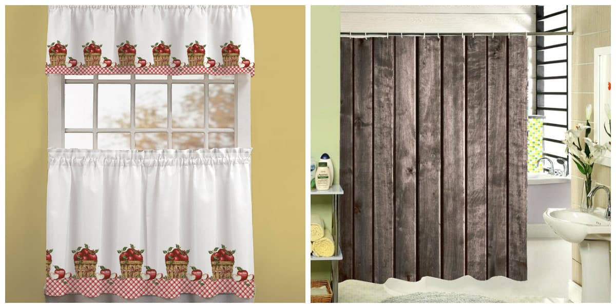 curtains in rustic style, rustic style curtains in interior design