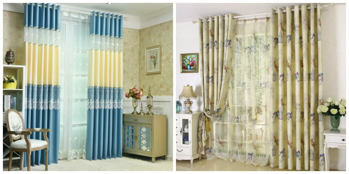 curtains in rustic style, features of curtains in rustic style