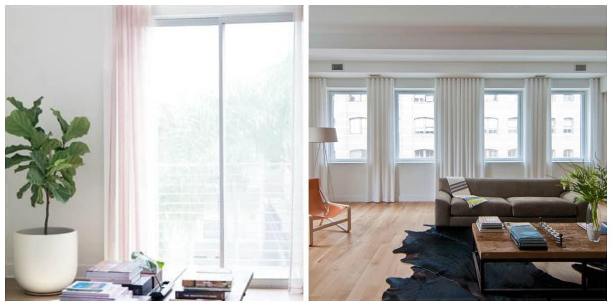 loft curtains, linen loft style curtains in loft interior design
