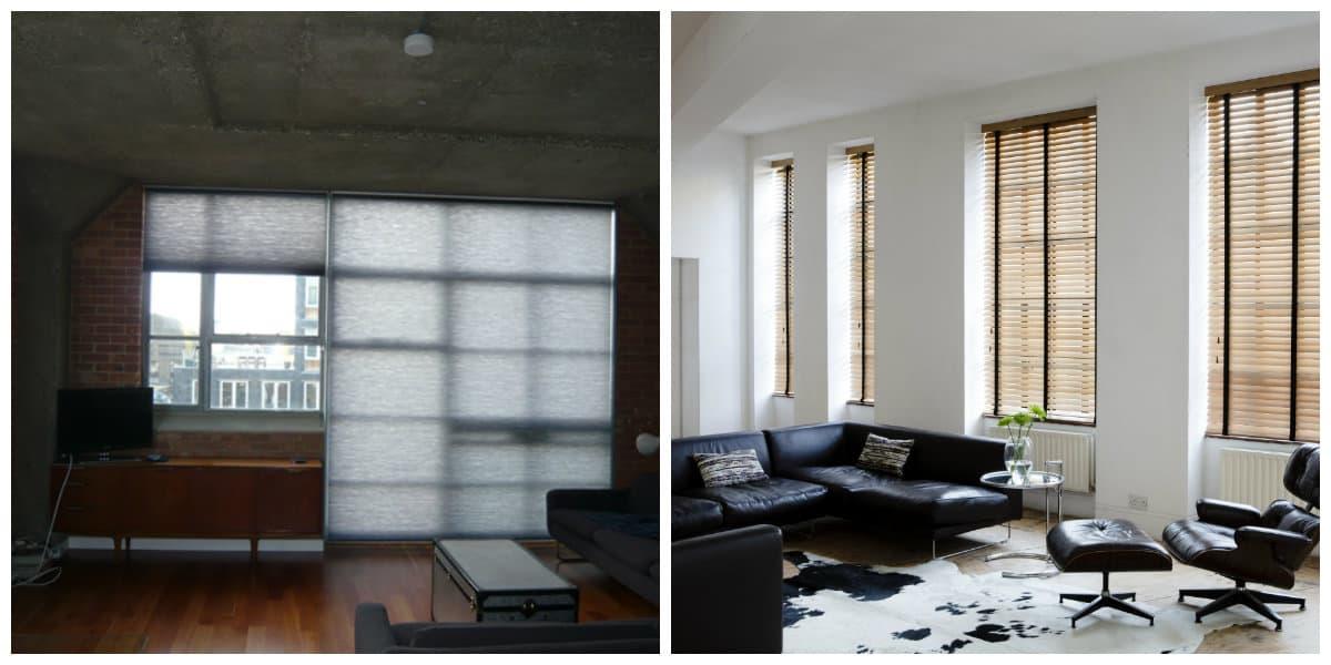 loft curtains, stylish loft blinds in loft interior design house