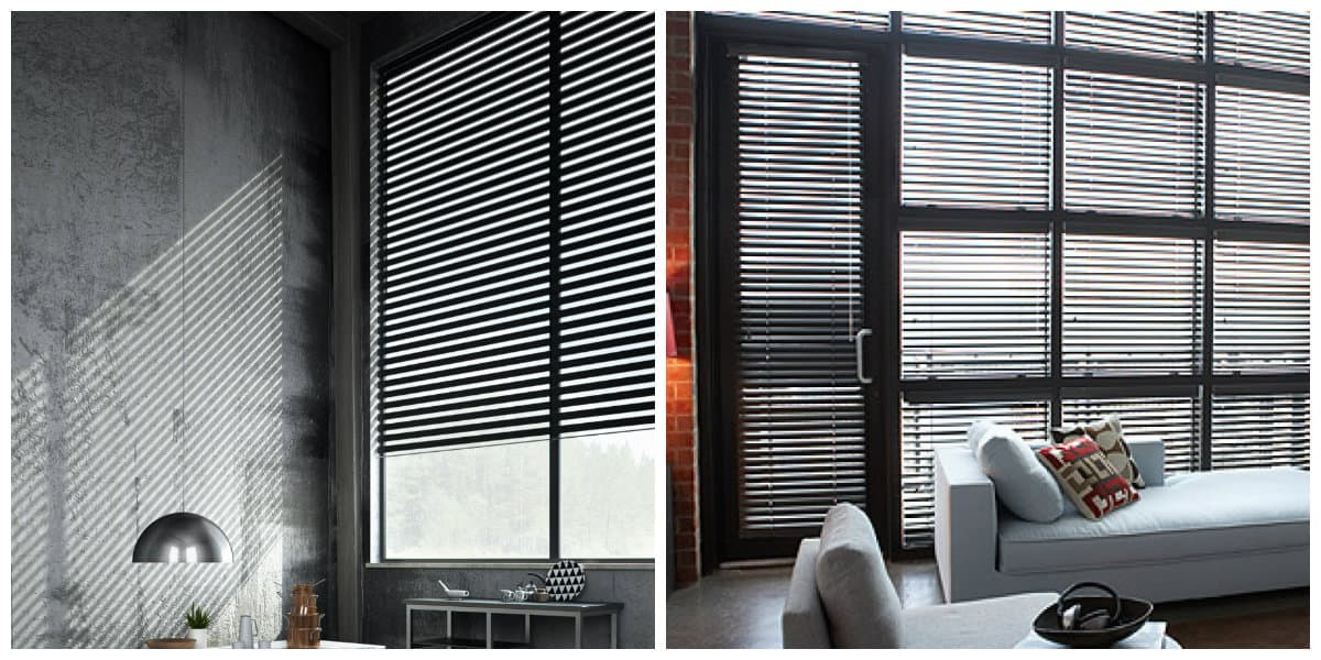 loft curtains, loft style blinds in loft interior design
