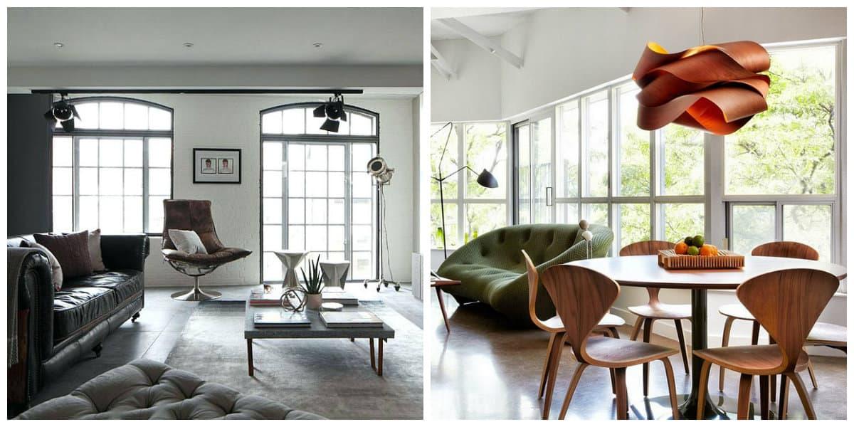 loft style apartment, furniture in loft style apartment design