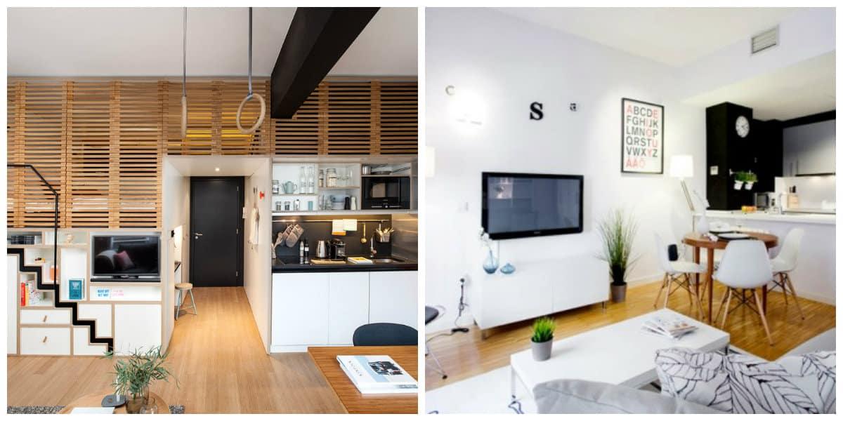 loft style apartment, stylish small loft apartment design