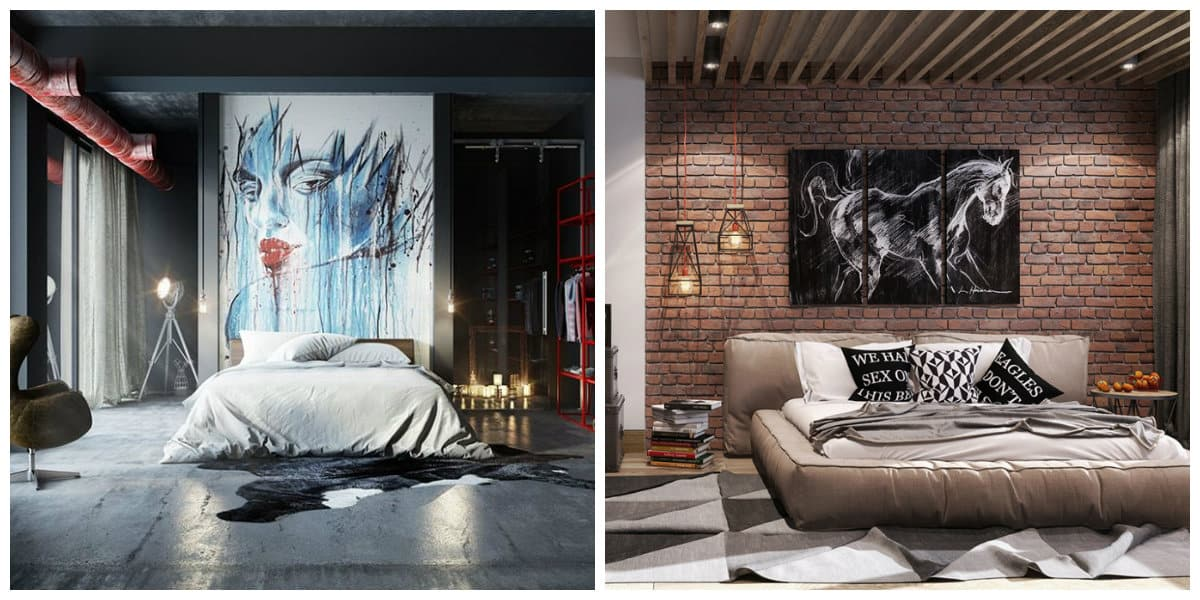 Stylish Laconic And Functional New York Loft Style: Loft Style Bedroom: Trendy Ideas And Top Features For