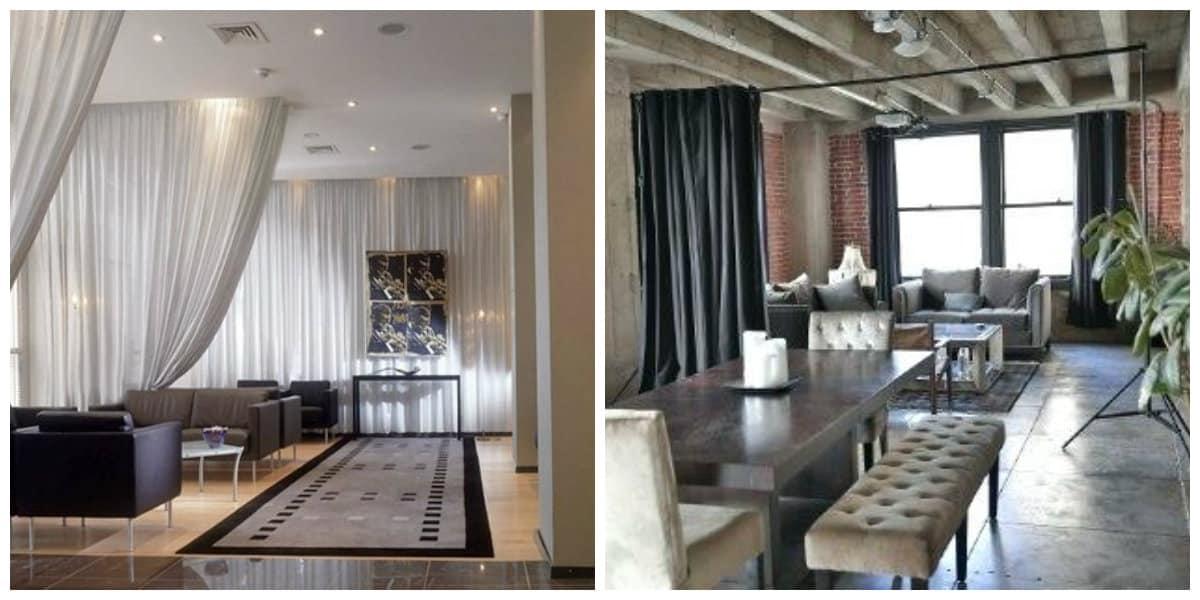 loft style curtains, design ideas for loft style curtains