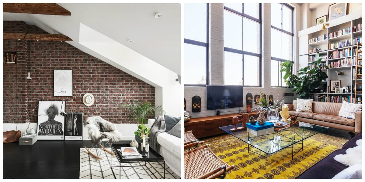loft style room, planning in loft style room