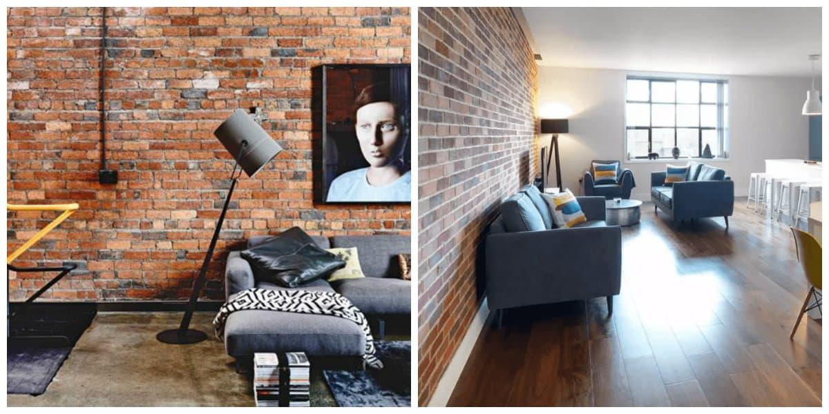 loft style room, wall design ideas in loft style room