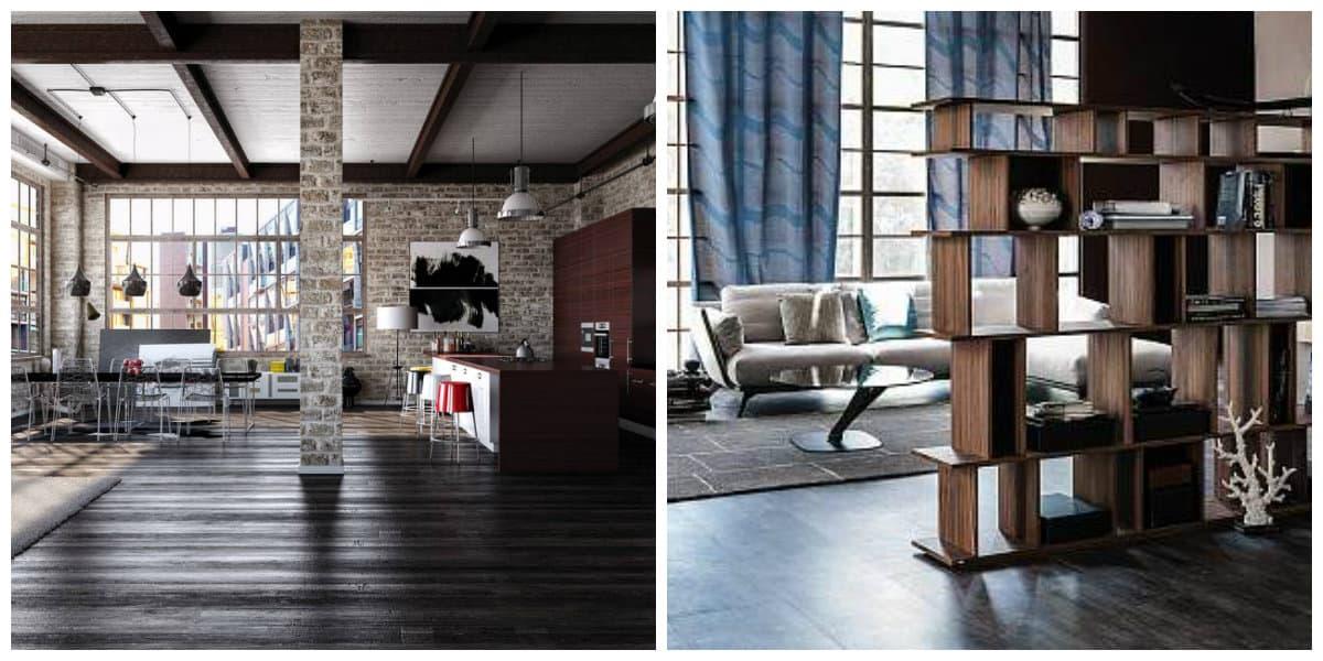 loft style room, room zoning ideas of loft style