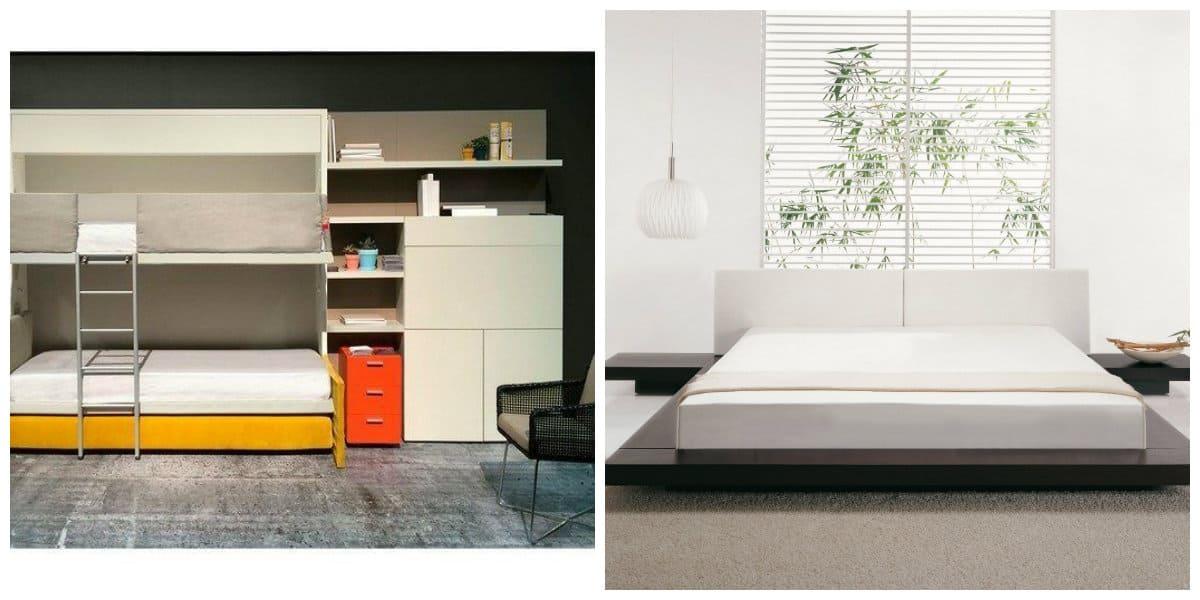 minimalist style room, minimalistic furniture transformer