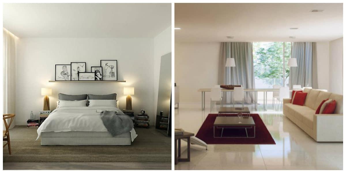 minimalist style room, stylish trends and ideas for minimalistic interior design