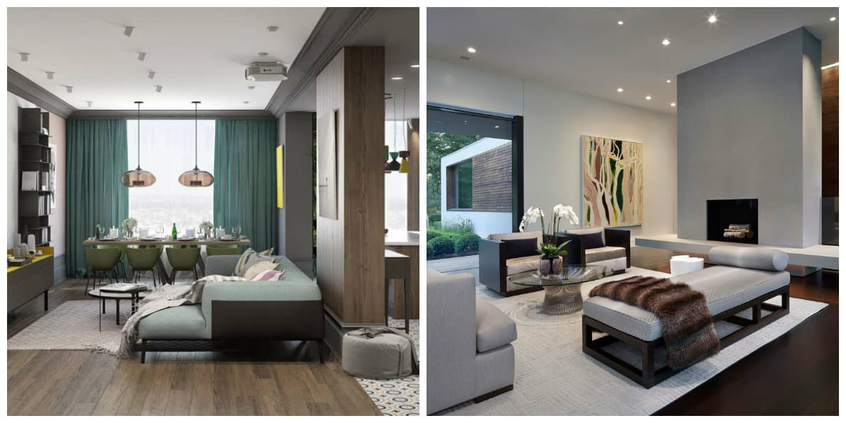 modern house interior, colors in modern house interior
