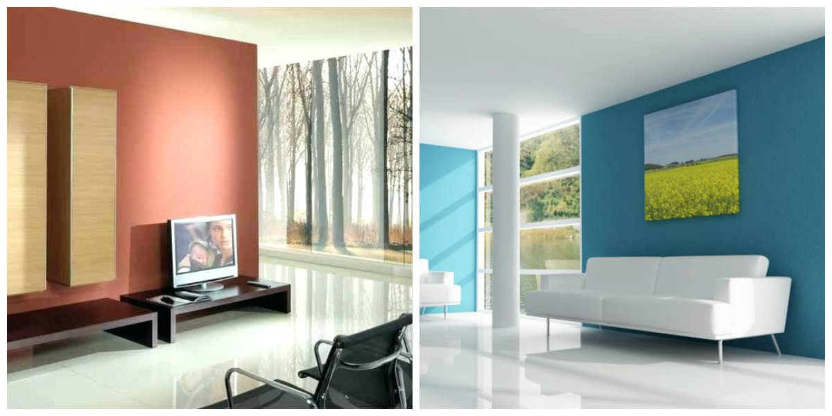 modern house interior, trendy colors in modern house interior