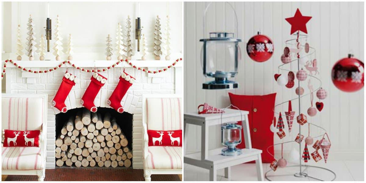 Christmas decorations 2019: Fireplace decoration