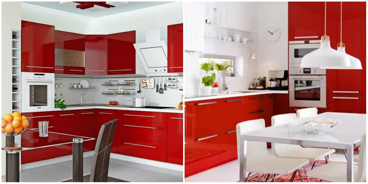 Kitchen ideas 2019: Kitchen design in red