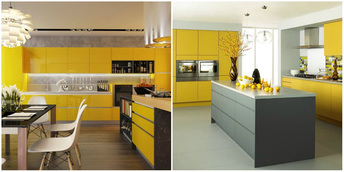 Kitchen ideas 2019: Kitchen design in bright colors: Yellow kitchen