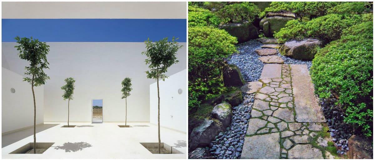 Landscape design 2019: Landscape design in minimalist style