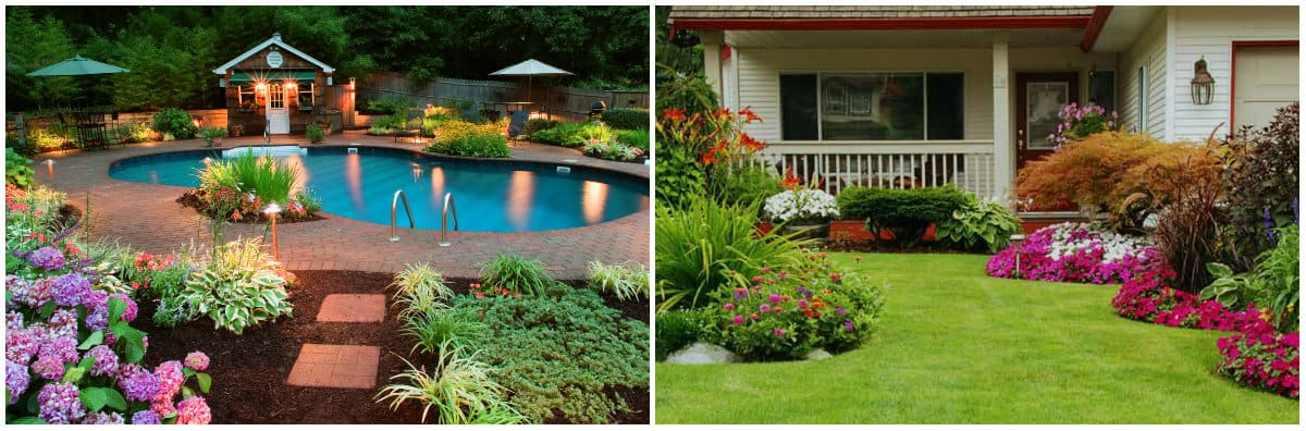 Landscape design 2019: Landscape design with pond