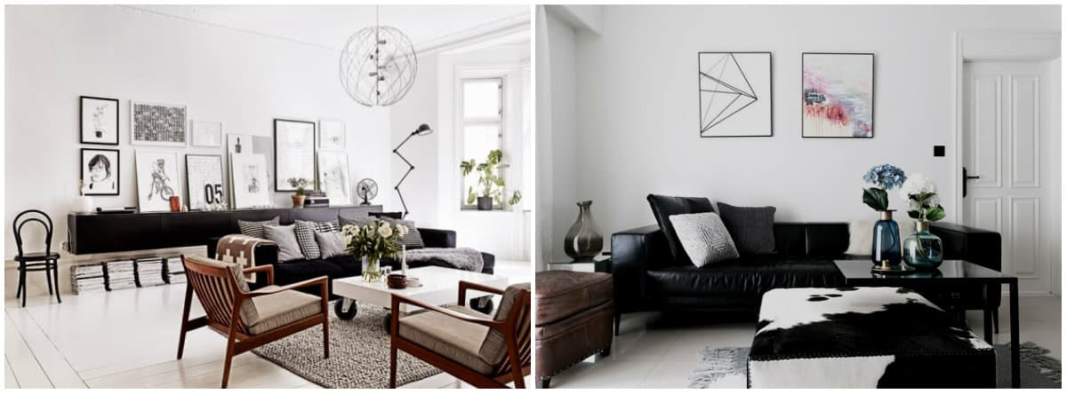 Living room design 2019: Scandinavian living room design