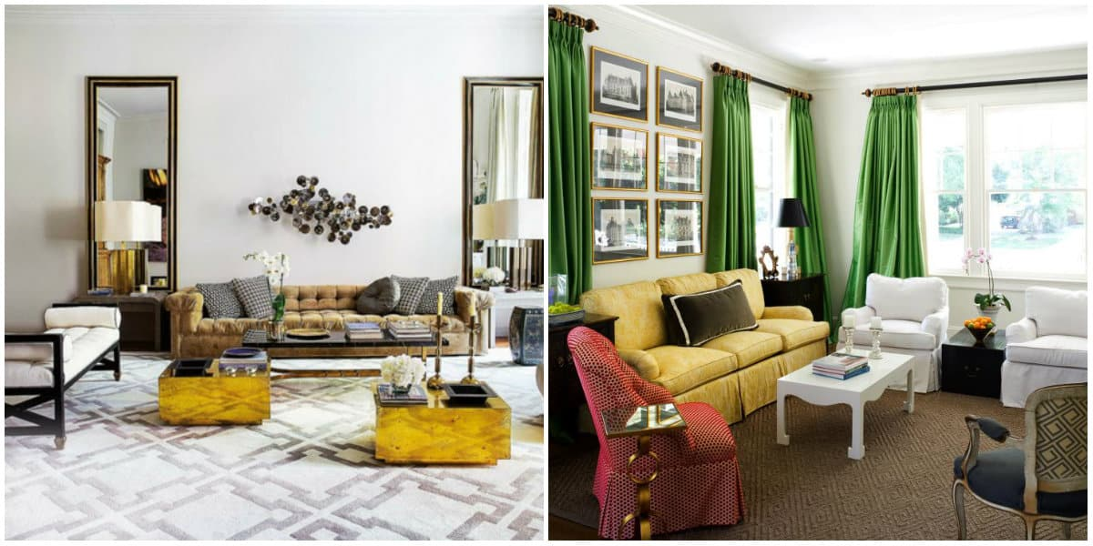 Living room design 2019: Eclectic living room design idea