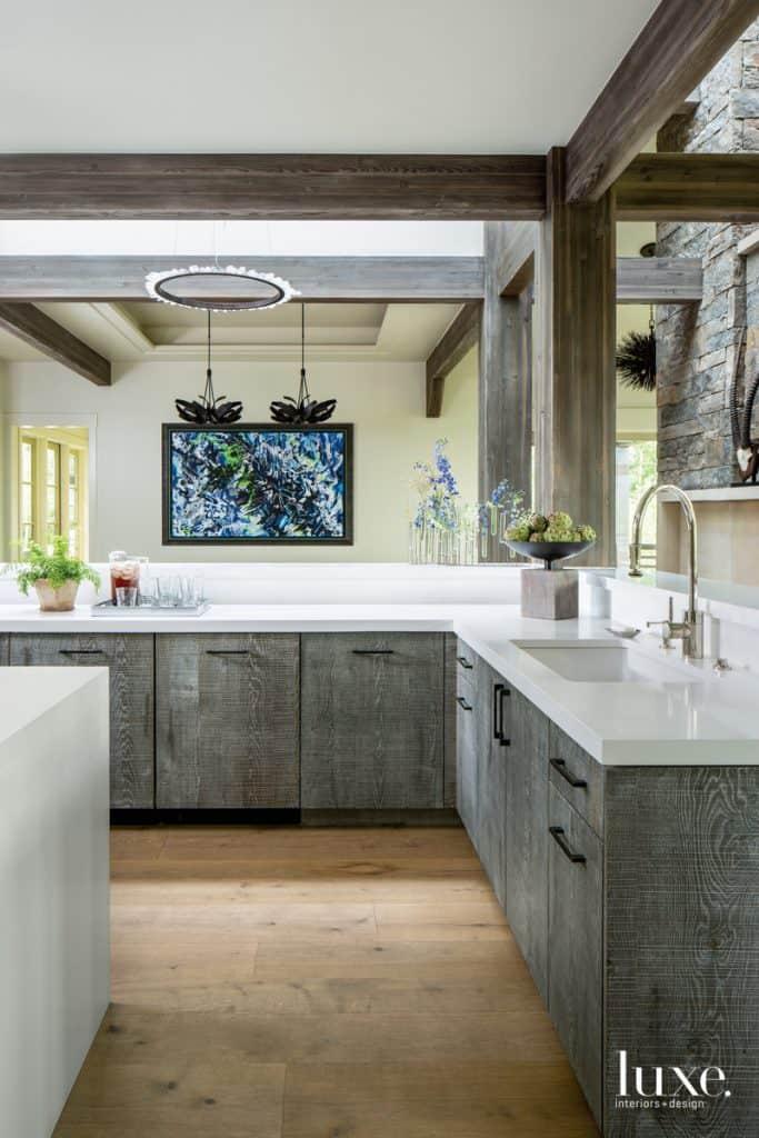 Modern interior 2019: Kitchen design in eco style