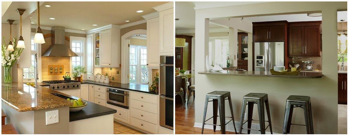 Small kitchen designs 2019: Furniture