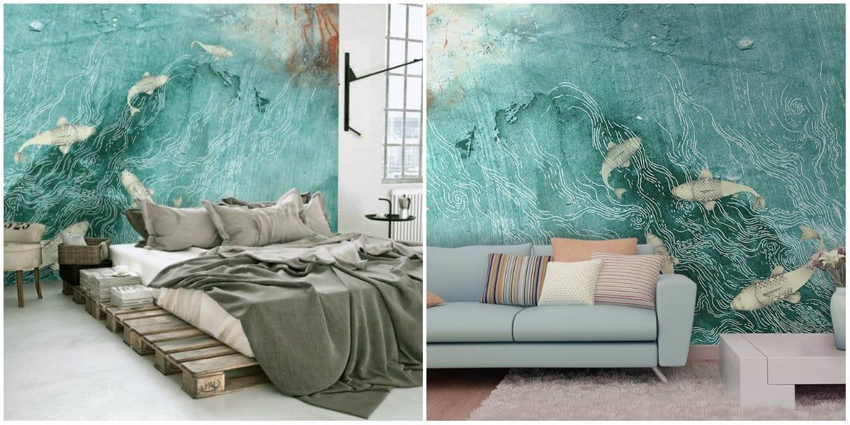 Wallpaper design2019: 3D interior wallpapers