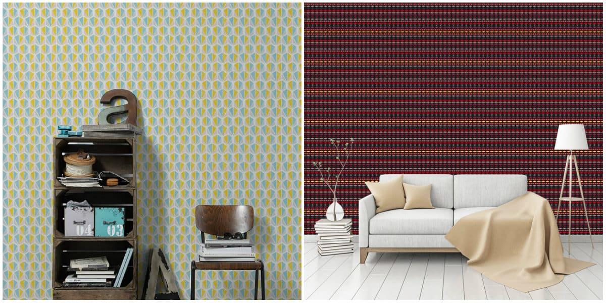 Wallpaper design2019: Ethno interior design: Ethno wallpaper